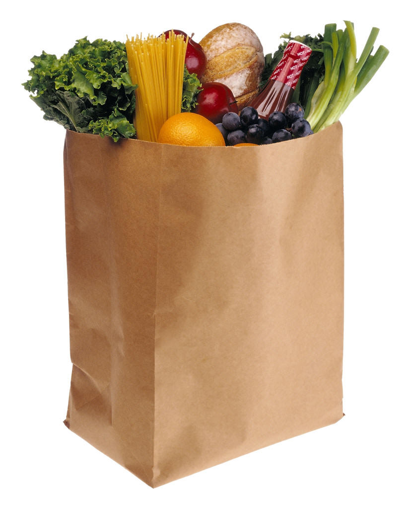 Grocery-bag full