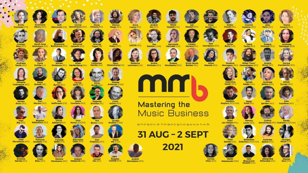 All speakers at Mastering the Music Business 2021 #MMB2021